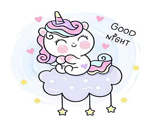 "SETUYCR Fantasy 5D DIY Diamond Painting Kits Unicorn Girly Cartoon Sleeping Time Sweet Dream Pastel Colors Counting Set for Adults Full Drill Rhinestone Craft Arts Home Wall Decoration 16"" X 20"""