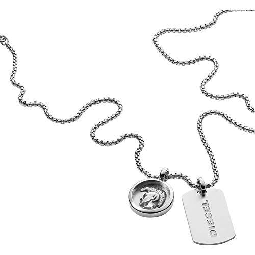 Diesel Jewellry Double Pendant DX1209040 Cadena de Cuello para Hombres