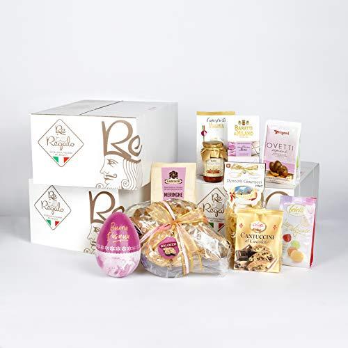 RE REGALO PASQUA TOP | Confezioni regalo con uova di pasqua, colomba pasquale, cioccolatini regalo e regali pasquali. Cesto pasquale di 10 regali. Uovo di pasqua, colomba, cioccolato e tanto altro