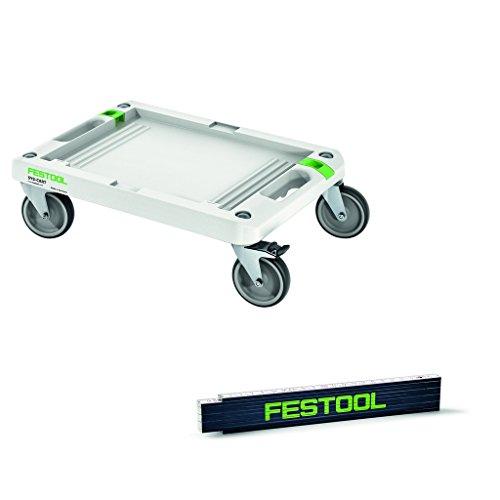 Festool Rollbrett SYS Cart RB - 360 x 520 mm - Nr. 495020 - für Systainer und Sortainer + Maßstab