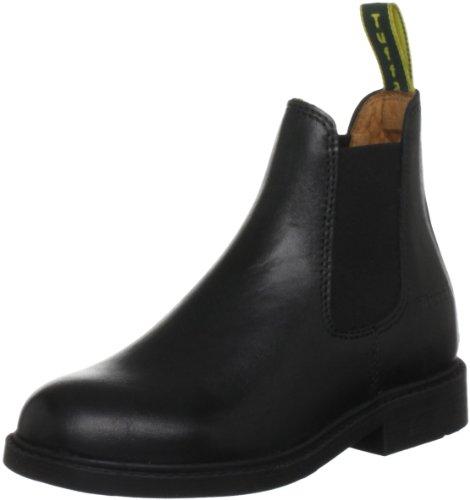 Tuffa Polo Kinder Jodhpurstiefel aus Leder schwarz schwarz Size 33