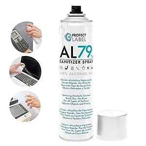 Hidroalcohol Spray 500ml. Higienizante manos y multisuperficies 79% Alcohol Aerosol Hidroalcohólico