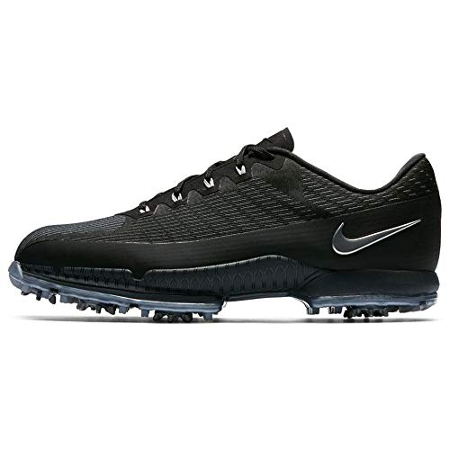 Nike Men's Air Zoom Attack FW Golf Shoes (Medium) (10 M, Black/Metallic Silver/Anthracite)