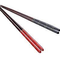XAZTY 韓国再利用可能な箸の天然ブナの木の箸中国のセット手作りギフトボックスの2組
