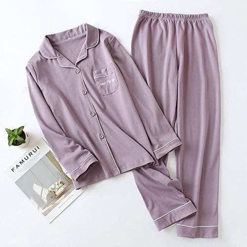 Schlafanzug Paar Pyjamas Aus Baumwolle Für Herbst- Und Winter-Langarm-Langarmhosen Mehrfarbige Pyjamas Für Damen Und Herren Homewear Suit M Womensets