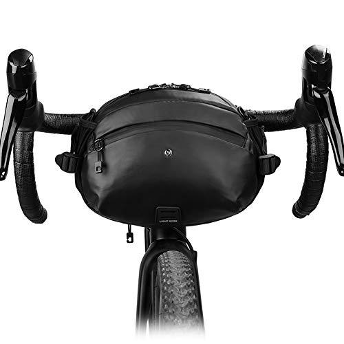 Lixada Bolsa para Manillar Bicicleta Impermeable Multifuncional Bolsa de Almacenamiento Frontal de Bicicleta de Carretera MTB