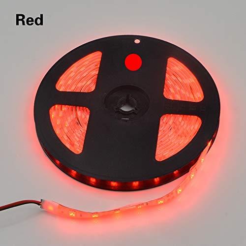 SUNXK 5M / 10M LED-Licht mit 5050 flexiblem Licht mit Band Weißes warmweißes RGB-LED-Licht Küchenschrank DIY-Licht mit Licht SUNXK (Emitting Color : Red)
