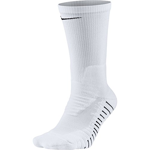 NIKE Unisex Vapor Crew Socks (1 Pair), White/Black, Large