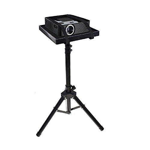 Mesa/Soporte para VIDEOPROYECTOR/Ordenador PORTATIL Phoenix Tipo TRIPODE/Adjustable EN Altura/Plegable/PORTATIL Peso Ligero/Altura Maxima 1.5 Metros Acero Negro