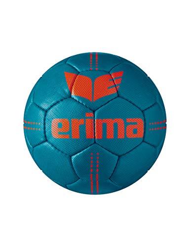Erima Unisex– Erwachsene Pure Grip Heavy Handball, Petrol/Fiery Coral, 2