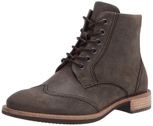 ECCO womens Sartorelle 25 Wingtip Fashion Boot, Tarmac Suede, 6-6.5 US