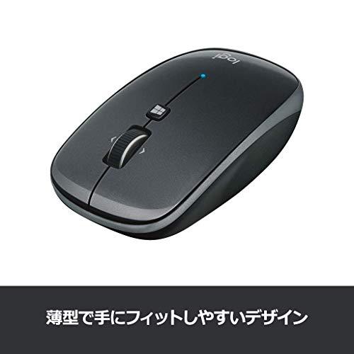 ロジクールワイヤレスマウス無線薄型ワイヤレスマウスM557GRBluetooth6ボタンM557グレー国内正規品