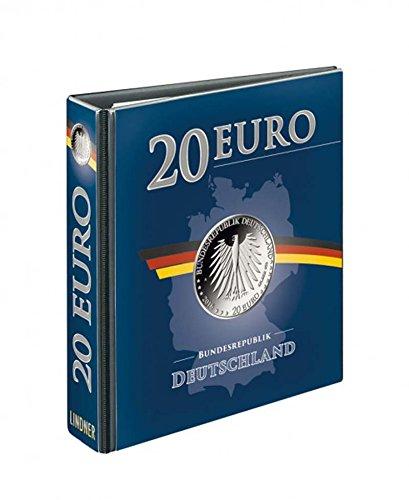 Lindner 3536R PUBLICA M Vordruckalbum 20 Euro-Silbermünzen Deutschland, leer
