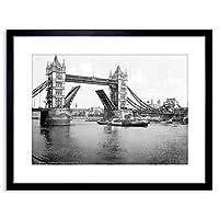 Vintage Photo London Tower Bridge England Framed Wall Art Print