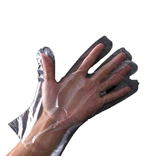 1000 paar wegwerphandschoenen dikke doorzichtige plastic folie PE waterdicht oliebestendige beschermende antigifhandschoenen