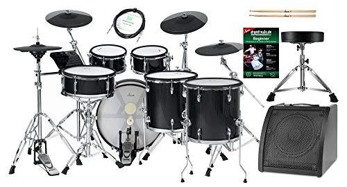 XDrum DD-670 PLUS Mesh E-Drum Kit Live Set - elektronisches Schlagzeug mit HiHat und Holzkesseln - 20