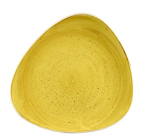 Churchill Stonecast -Triangle Plate Teller- Durchmesser: Ø26,5cm, Farbe wählbar (Mustard Seed Yellow)