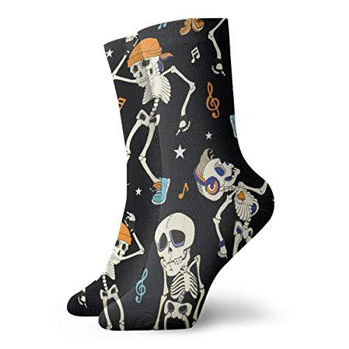 Tanzende Skelette Herren Damen Crew Socken Strumpf Wandern Leichte Cool Komfort Socken geeignet für alle Aktivitäten bei jedem Wetter