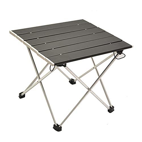 thorityau Mesa de camping plegable de aluminio durable portátil plegable ligero peso mesa de camping para jardines, playas y pesca, el paquete incluye bolsa de transporte