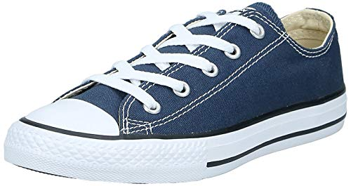 Converse Unisex-Kinder C. Taylor All Star Youth OX 3J2 Low-Top, Blau (Navy), 27 EU