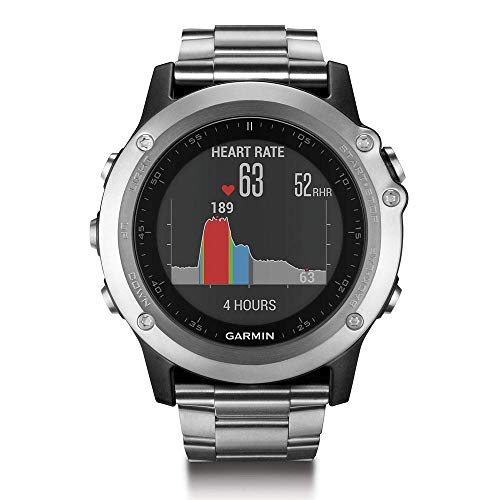 Garmin Fenix 3 HR GPS Watch with Titanium and Sport Bands (Renewed)