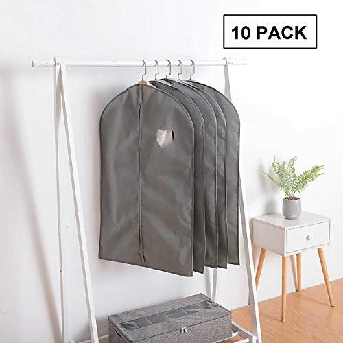 OPYWQS 10-delige set, niet-geweven stof opknoping organizer opbergtas kledingstuk stofhoes Suit, duidelijk raam, voor kasten