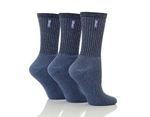 Damen 3 Paar Jeep Weinlese-Socken in 3 Farben - 07.04 Damen - Blau