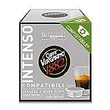 Caffè Vergnano 1882 7097 Capsule Caffè Compatibili Lavazza a Modo Mio Compostabili, Intenso, 128 Unità - 1 Kg
