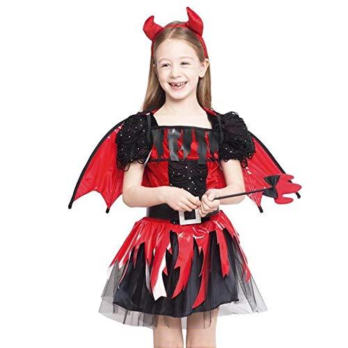 Disfraz Diablesa Alada Vinilo para Niña Halloween (3-4 años) (+ Tallas)