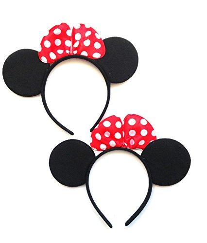 HC enterprise 2 pcs Disfraz Black Mouse,Accesorio de Disfraz ds2