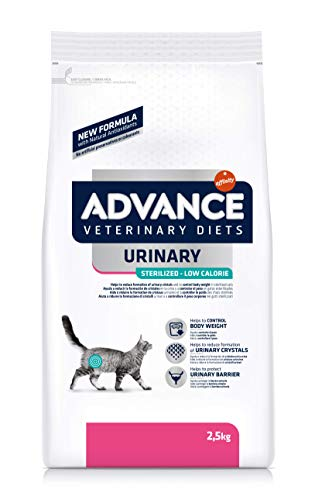 ADVANCE Veterinary Diets Urinary Low Calorie - Pienso para Gatos con Problemas Urinarios- 2,5kg ⭐