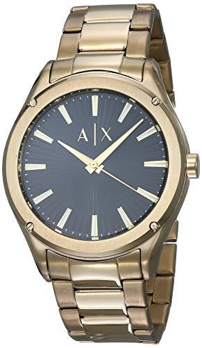 Armani Exchange Fitz cuarzo negro Dial reloj de los hombres AX2801