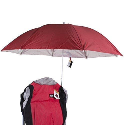 Marko Outdoor Clamp On Umbrella Large Red Clip Parasol Sunshade Garden Beach Outdoor Patio Sun