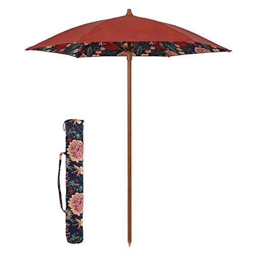 Sekey® Sonnenschirm 180 cm Strandschirm Terrassenschirm Rot Rund Sonnenschutz UPF50+