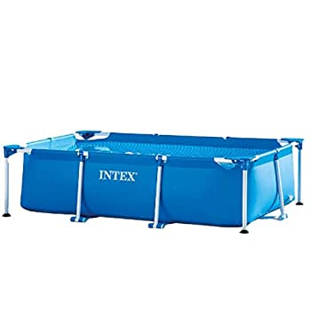 Intex 8.5  x 5.3  x 2.13  Rectangular Frame Above Ground Backyard Swimming Pool