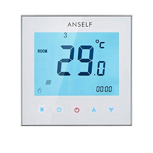 Galapara Programmierbar Raumthermostat,Digital Thermostat Raumthermostat Thermostat Heizung programmierbare LCD Display Touchscreen für Fußbodenheizung Wasserheizung