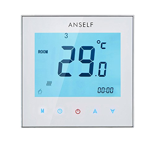 Anself 3 A 110 – 230 V Programmierbar wöchentliche Display LCD Touch Screen Wasser Heizung Thermostat Room Controller Temperatur