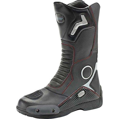 Joe Rocket Ballistic Touring Mens Riding Shoes Sports Bike Racing Motorcycle Boots - Black/Size 10