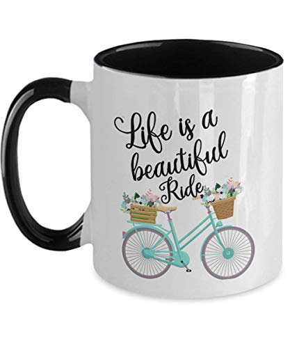 N\A Taza Life Is A Beautiful Ride Bicicleta Vintage