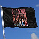 wallxxj Fahne Miami South Beach 90X150Cm Gartenflagge Willkommen Haus Banner Druck Standard Saison Im Freien Bunte Banner Flagge Lebendige Klassische Outdoor Familienurlaub