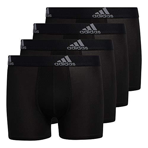 adidas Kids-Boy's Performance Boxer Briefs Underwear (4-Pack) Black/Grey