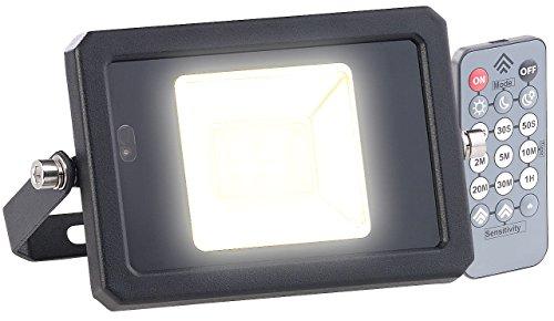 Luminea Radar Bewegungsmelder: Wetterfester LED-Fluter, Radar-Bewegungssensor, Fernbedienung, 10 W (Außenstrahler mit Fernbedienung)