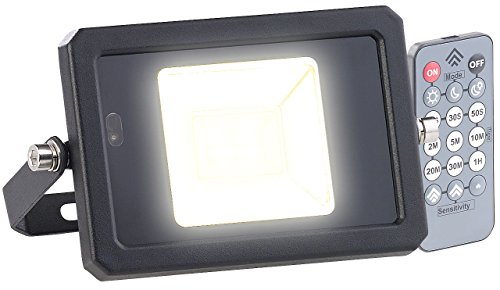 Luminea Strahler: Wetterfester LED-Fluter, Radar-Bewegungssensor, Fernbedienung, 10 W (LED Strahler mit Fernbedienung)