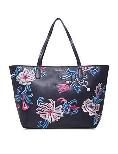 Desigual Bag Orangina Capri Zipper Women - Borse a spalla Donna, Blu (Navy), 13x28x30 cm (B x H T)