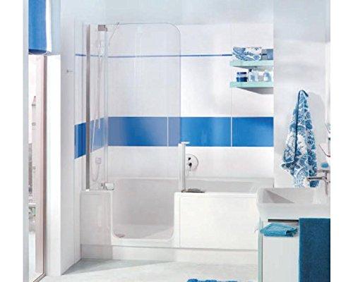 Artweger Twinline 2 Badewanne 180 x 80 mit Einlaufgarnitur Profil Metall hochglanz