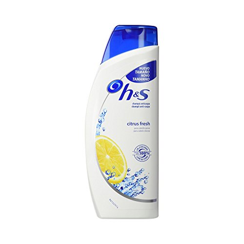 Head & Shoulders Citrus Fresh Champú Anticaspa para Cabello Graso - 600 ml