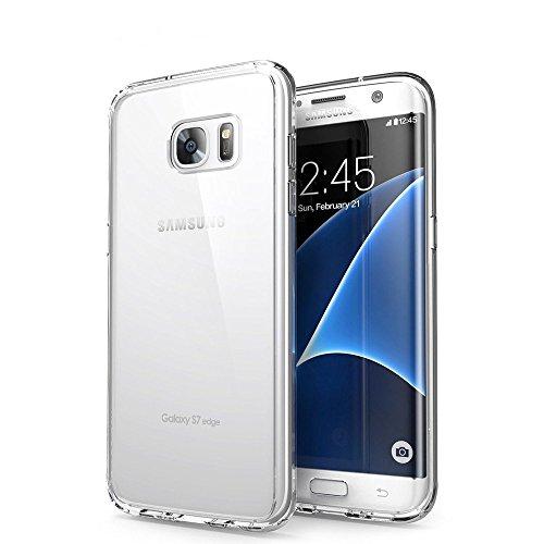 Custodia Galaxy S7 Edge, Orlegol Crystal Case Samsung S7 Edge Cover Silicone Morbida TPU Bumper Case Anti-graffio Protettiva Custodia per Samsung Galaxy S7 Edge Case Cover - Trasparente