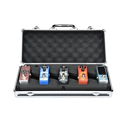 CNZ Audio PedalPad Case 5 - Guitar Effects Pedalboard for 5 Mini Pedals + Power Supply & Cables