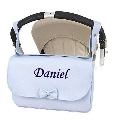 Bolso Polipiel Carrito bebe Personalizado con nombre bordado Modelo Solapa- Danielstore