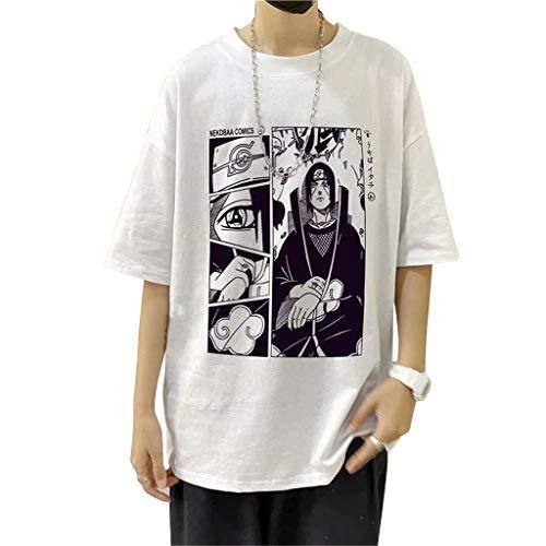 Maglietta Naruto per Uomo Donna, 3D Uchiha Sasuke Itachi Akatsuki Naruto Anime Cosplay T Shirt Moda Casuale Manica Corta Tee Maglia Shirt Camicia Camicetta Tops per Unisex Adulto Bambino (4W,S)